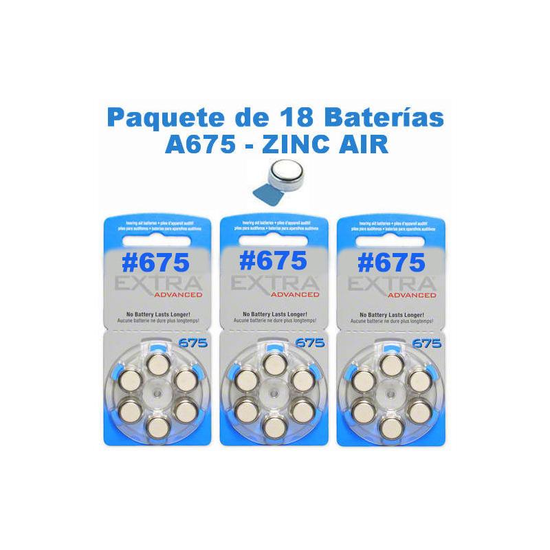 Paquete de 18 pilas bater as a675 tipo bot n para - Pilas boton tipos ...
