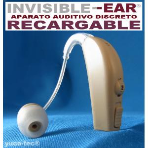 INVISI�EAR� Aparato Auditivo RECARGABLE Discreto