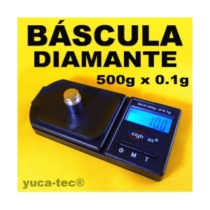 B�scula Joyera DIAMANTE - 500 X 0.1 Gramos LCD Digital - 500g