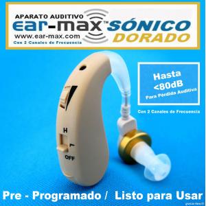 EAR-MAX� S�NICO DORADO Aparato Auditivo Con 2 Canales de Frecuencia