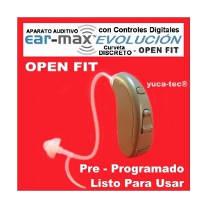 EAR MAX® EVOLUCIÓN - OPEN FIT - DISCRETO CURVETA con Controles Digitales