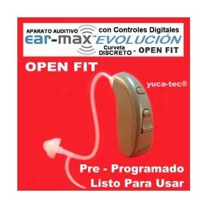 EAR MAX® EVOLUCIÓN - OPEN FIT - DISCRETO CURVETA con Controles Digitales