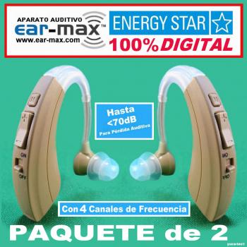 Paquete de 2 EAR MAX® ENERGY STAR - Aparato Auditivo 100% DIGITAL