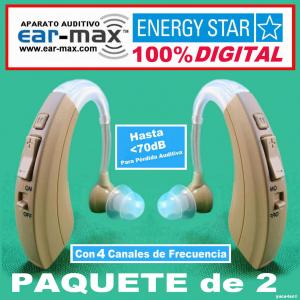 Paquete de 2 EAR MAX� ENERGY STAR - Aparato Auditivo 100% DIGITAL