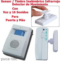 Sensor timbre inal mbrico infrarrojo detector de - Timbre inalambrico exterior ...