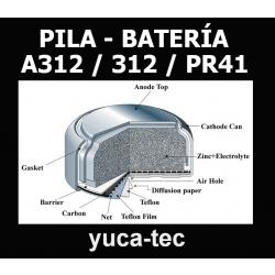 Paquete de 18 pilas bater as a312 312 pr41 tipo - Pilas boton tipos ...