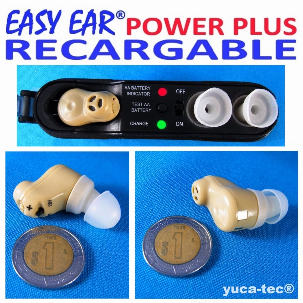 EASY EAR® POWER PLUS Aparato Auditivo RECARGABLE Dentro Del Oído
