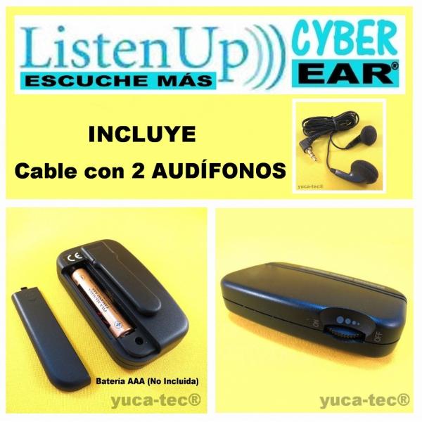 Listen Up / Cyber Ear / Escuche Más - Amplificador De Sonido -  Aparato Auditivo - Como Lo Vio En TV